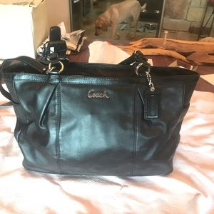 Gorgeous black leather Coach bag